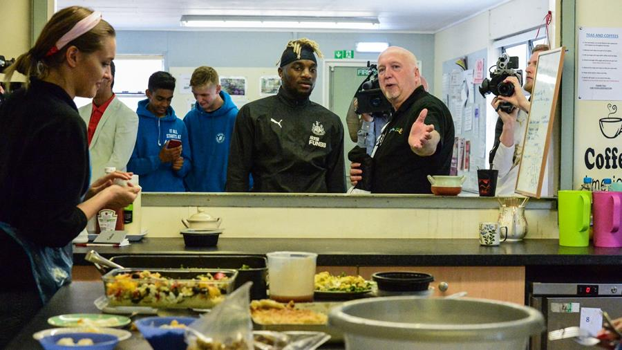 Newcastle United Allan Saint Maximin Visits Newcastle West
