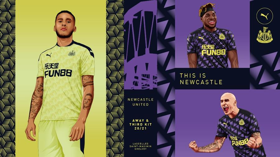 Newcastle United Newcastle United Reveals 2020 21 Away And Third Kits
